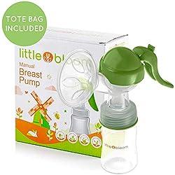 Tire-lait en silicone par Littlebloom - Tire-lait manuel mains libres sans BPA au design confortable et couvercle