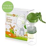 Extractor de leche de Silicona Littlebloom – Extractor leche materna 100% libre de BPA Manos Libres con Diseño Mejorado y Cómodo y con Tapas