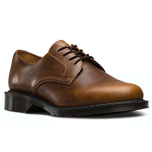 Dr.Martens Mens Octavius Leather Shoes vintage marrone