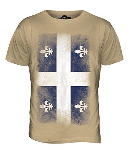 CandyMix Québec Verblichen Flagge Herren T Shirt Sand