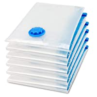 Vacuum Space Saver Reusable Sealer Storage Bags 70x100cm, With Suction Pump, Pack Of 6