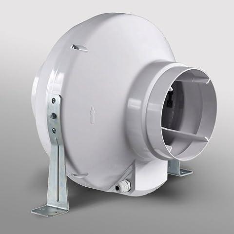 VK In Line Duct Fan Mounted Extractor Fan Hydroponics Grow Room (Standard)