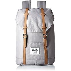 Herschel Retreat Backpack - Mochila casual unisex, Gris (Grey), 23 L