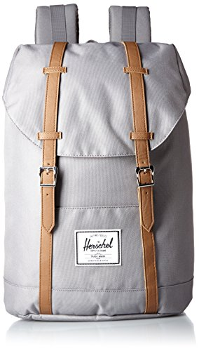 Herschel Retreat Sac à dos loisir, 43 cm, 19.5 liters, Gris (Grey/tan)