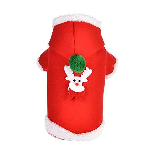 Fablcrew Klassische Weihnachtskleidung Santa Hunde Kostüm Weihnachtsjacke Pet -