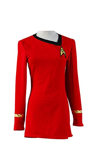 Star Trek Kostüm Damen Uniform Kleid Rot TOS (Star Tos Trek Uniform)