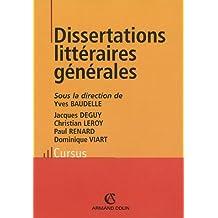 Dissertations littéraires générales