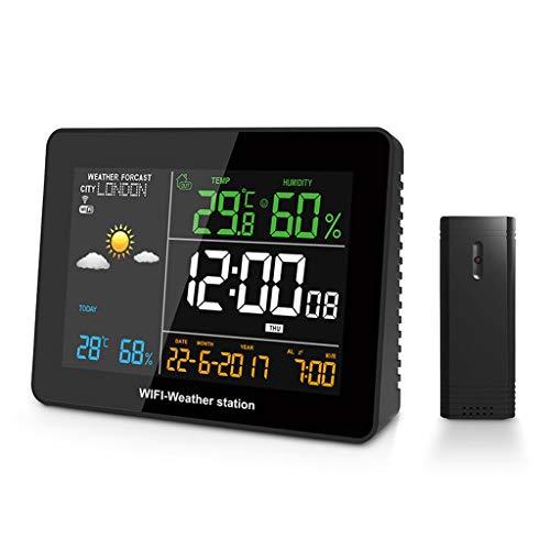 King Boutiques Weather Clock WiFi-Wetterstation APP Remote-Einstellung Automatische Verbindung Smart Home Multifunktions-Thermometer Hygrometer Haushaltsgegenstände