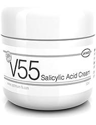 V55 Salicylsäure Creme Gegen Pickel Mitesser Hautunreinheiten und Problemhaut ParabenFREIE - 50 Gramm