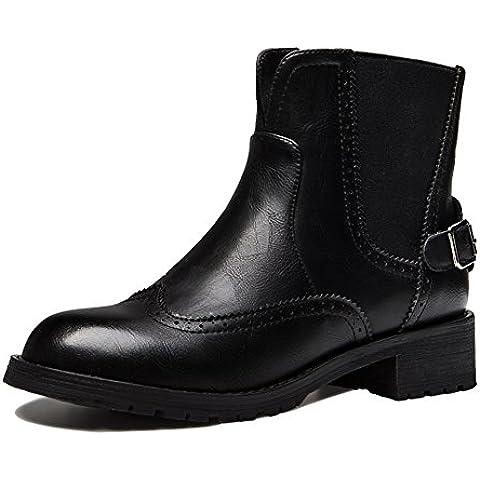 moda donna stivali/ di spessore con vintage British vento/Tondo testa/Stivali da pioggia