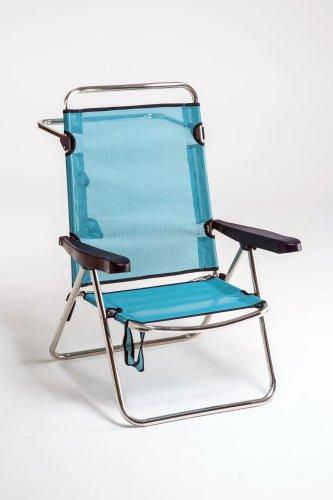 Chaise haute en aluminium et fibre pour la plage