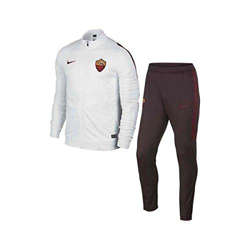 Nike A.S Roma 2015-2016 - Chándal, Color Blanco/Rojo, para niños de 8 años