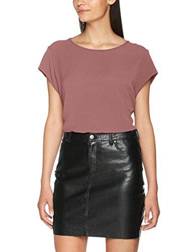 ONLY Damen T-Shirt Onlvic S/S Solid Top Noos Wvn , Rosa (Mesa Rose) , 40
