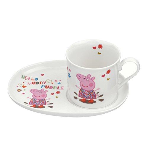 Portmeirion Mug et assiette à goûter Motif Peppa Pig Multicolore