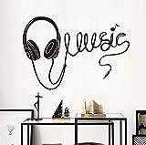 Die besten Budget Kopfhörer - zhangsh Persönlichkeit Wandaufkleber Große Musik Kopfhörer Silhouette Wandaufkleber Bewertungen