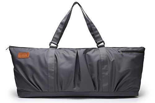 Elenture extragroße Tragetasche für Yogamatten, als Sporttasche, Pilates-Tasche, dunkelgrau