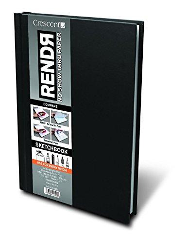 RENDR Markerpapier - Sketchbook mit hardcover 48 Blatt - 180g - 14x21,5cm