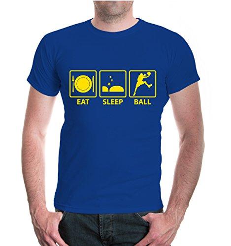 buXsbaum® T-Shirt Eat Sleep Basketball Royal-Sunflower