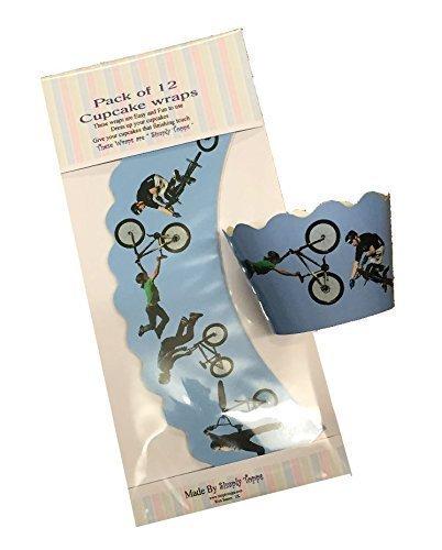 12 x BMX Fahrrad Dekorative Cupcake verpackungen