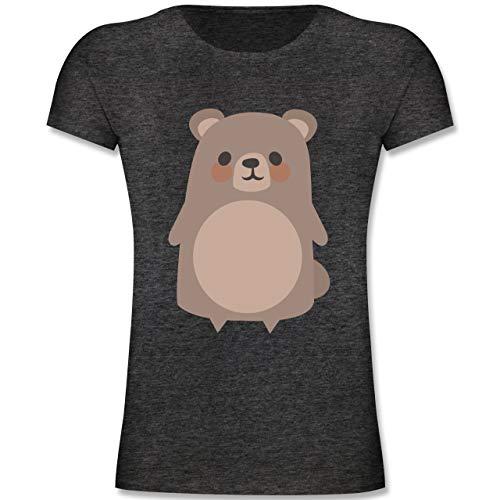 Kleines Bär Teddy Kostüm Baby - Karneval & Fasching Kinder - Teddy Fasching Kostüm - 104 (3-4 Jahre) - Anthrazit Meliert - F131K - Mädchen Kinder T-Shirt
