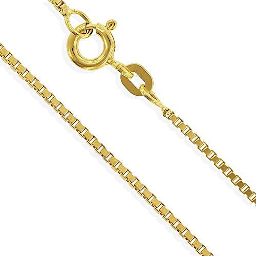 Gelbgold Venezianerkette 14 Karat 585 14K Herrenkette 50cm mittel (021)