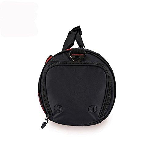 WOMJIA 600D Nylon langlebig Reisetsache Sporttasche Weekender Tasche Handgepäck aus stilvoll 35 Liter Rot
