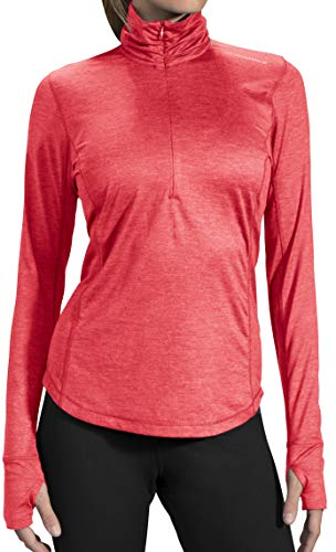 Brooks Damen Laufshirt Dash Half-Zip Pink - 220977-603 (M) -