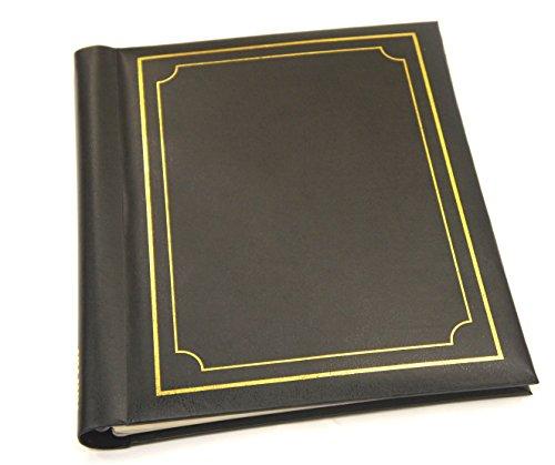 Arpan Auto adhésif Grande garniture de cachet d'or NOIR Albums photos Totalisant 20 feuilles 40 Côtés -