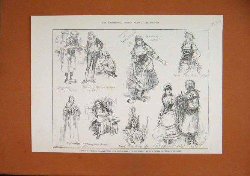 Thtre de Paul Jones d'Opra Comique de Planquette de 1889 Croquis