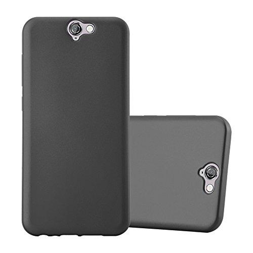 Cadorabo Hülle für HTC ONE A9 - Hülle in METALLIC GRAU – Handyhülle aus TPU Silikon im Matt Metallic Design - Silikonhülle Schutzhülle Ultra Slim Soft Back Cover Case Bumper