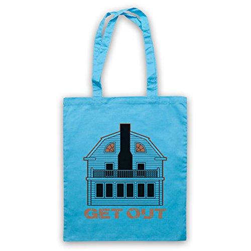 Inspire par Amityville Horror Get Out Officieux Sac d'emballage Bleu Clair