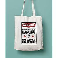 Spontaneous Dancing Cotton Shopping Bag - Lovely Gift Idea for Dance Teachers