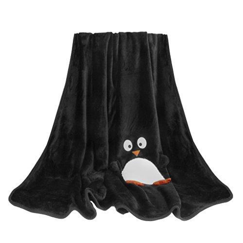 Weiche Kuscheldecke Sofa Decke Luxus Wolldecke mit Weihnachten-Motiv Bettdecke Blankets für Damen Herren Kinder Schlafzimmer Sofa Auto in alle Jahreszeit 120x160CM-Pinguin