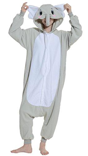 Imagen de dato ropa de dormir pijama elefante gris cosplay disfraz animal unisexo adulto