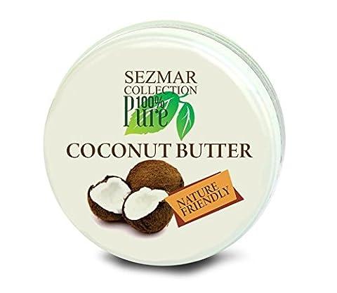 MyGlamy 250 ml Kokos-Butter 100% Natur-Creme Cocos Coconut-BODY-Butter natürliches Gleitmittel natürliche Intimpflege & Intimbefeuchtung - reines Kokos-Öl ohne Zusätze