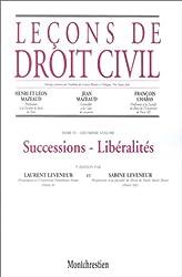 Leçons de droit civil, tome 4, 2e partie, 5e édition. Successions. Libéralités