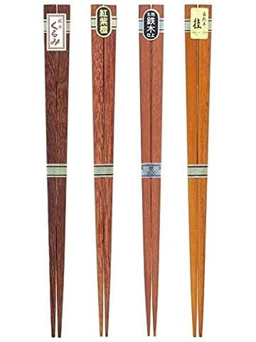 [Lot de 4.] Tanaka Baguettes 4ensembles de bois naturel assorties Baguettes