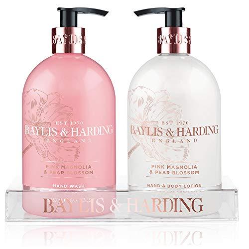 2 Magnolia Blossom (Baylis & Harding Pink Magnolia und Pear Blossom Flasche Set-2Stück)