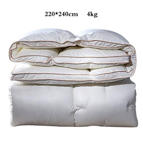 QUILT 3D, flauschig und atmungsaktiv, weich und bequem, konstante Temperatur und Komfort, 100% Polyester, weiß, Verschiedene Spezifikationen -