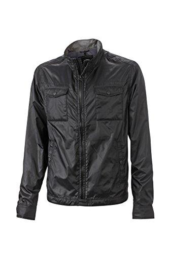James & Nicholson Herren Travel Jacket Jacken, Black, XL Black Travel Jacket