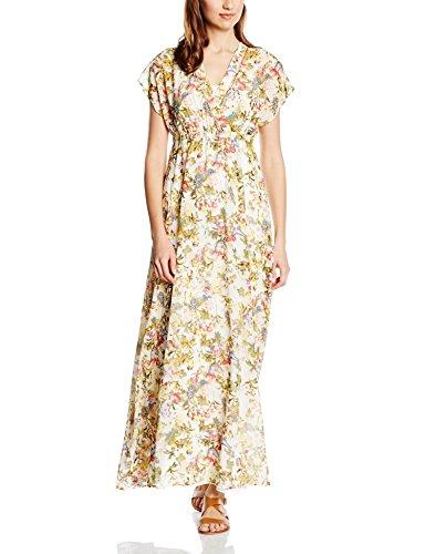 b.young Damen Kleid Idina Maxi Dress Mehrfarbig (Peach Amber 80803)