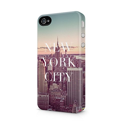 Maceste New York City Kompatibel mit iPhone 4 / iPhone 4S SnapOn Hard Plastic Phone Protective Fall Handyhülle Case Cover