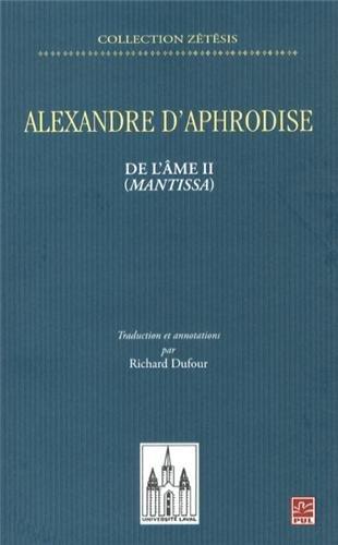 De l'âme II (Mantissa) par Alexandre d'Aphrodise