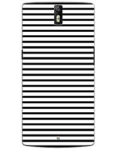 myPhoneMate Black Stripes Designer Printed Hard Matte Mobile Case Back Cover for OnePlus One