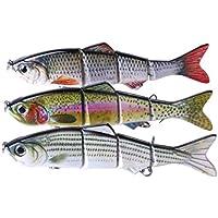 MUANI 3pcs / Set Gancho articulado atraer a la Pesca 15cm / 37,3 g Cebo Kit con los Equipos para la Trucha de salmón
