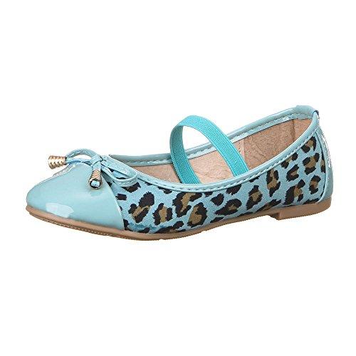 Kinder Schuhe für Mädchen, Z-211, BALLERINAS Blau Multi