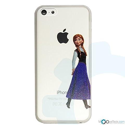 Coque rigide transparente Anna de la reine des neiges pour iPhone 5C