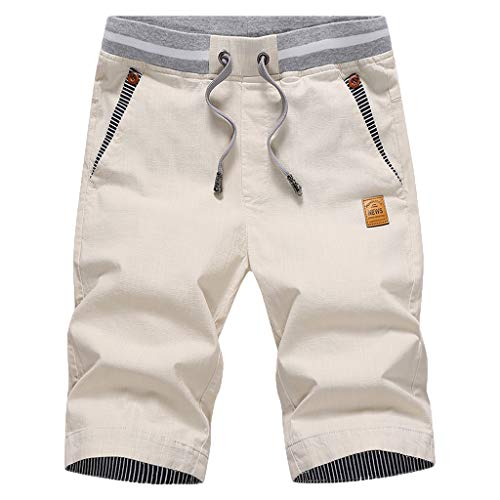 Btruely Hosen Herren Sommer Freizeithose Shorts Fitness Overall Atmungsaktiv Sporthose Männer Strandshorts Schwimmhose Stripe Flare Leggings