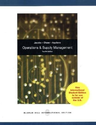 Operations and Supply Management with Student DVDRom