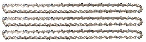 """3 tallox Sägeketten 3/8"""" 1,3 mm 57 TG 40 cm Schwert kompatibel mit DOLMAR, ECHO, EINHELL, HITACHI und andere Test"""